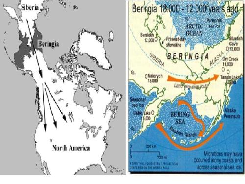 Mapa do Estreito de Beringer